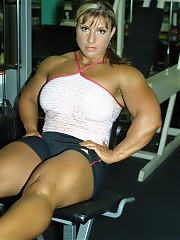 Gina Davis works out  in the gym
