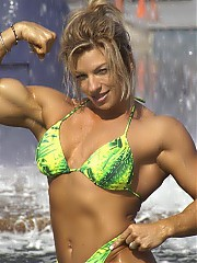 Debi Laszewski in top contest shape, she's blonde, she's beautiful, and she's got one of the finest physiques around.