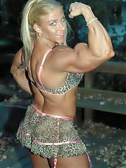 Beautiful selection of photos of one of your all-time favorite bodybuilding models - Marja Lehtonen. Marja is again in top shape. The 5'2